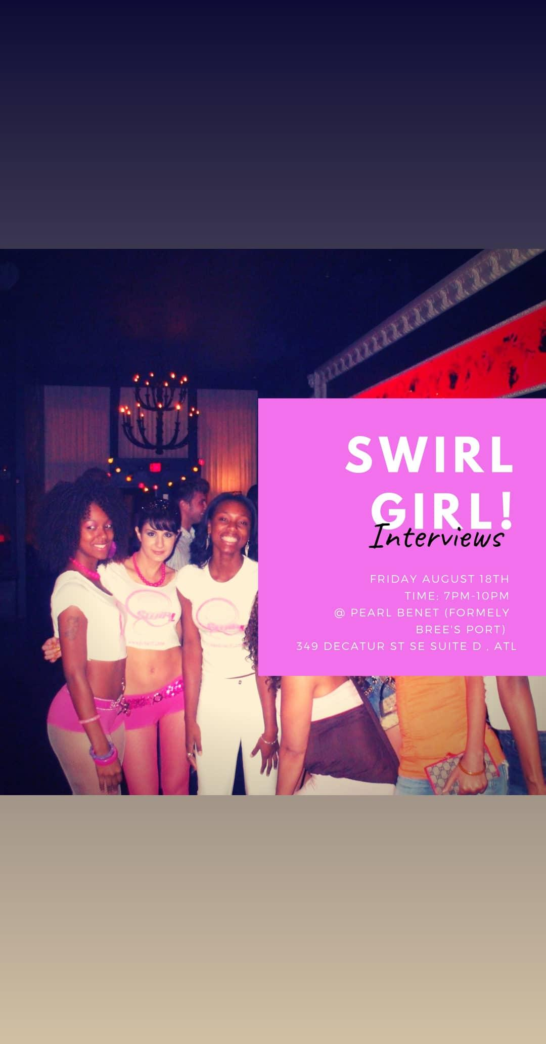SWIRL GIRL Model Call & Powershot! We are looking fo empowering women to change the world! Party to save lives! Register now! (SWIRL)