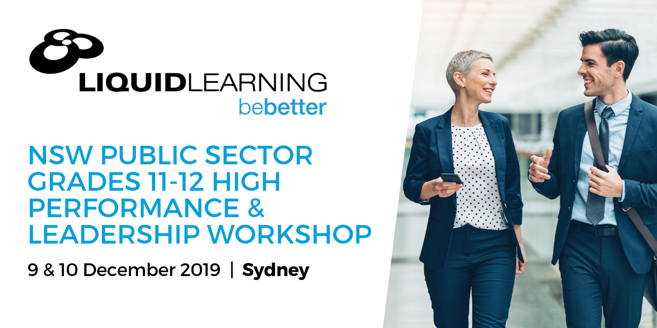 NSW Public Sector Grades 11-12 High Performance & Leadership Workshop