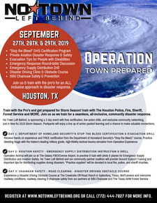 No Town Left Behind is a non-profit, emergency response team. Join us! logo