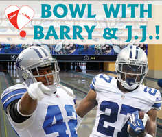 BOWL WITH BARRY CHURCH and JJ WILCOX! Dallas Cowboy...