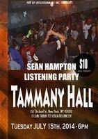 "Sean Hampton's ""Listening Party"" & After Concert"