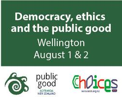 Democracy, ethics and the public good: The 2014...