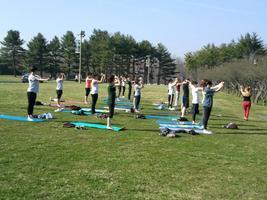 Free Pilates in Mueller Park