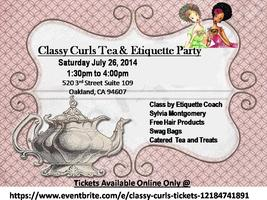 Classy Curls Tea and Etiquette Party!