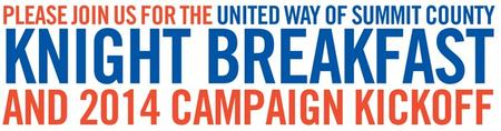 United Way of Summit County Knight Breakfast 2014