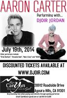Aaron Carter Performing with Djoir Jordan