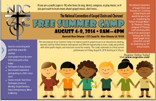 National Gospel Choir and Choruses Free Summer Camp