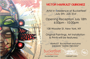 "Opening Reception: Victor ""Marka27"" Quinonez Artist In..."