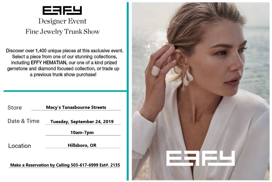 EFFY Trunk Show Tickets, Tue, Sep 24, 2019 at 10:00 AM