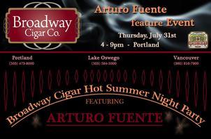 Broadway Cigar - Arturo Fuente Cigars Hot Summer Night...