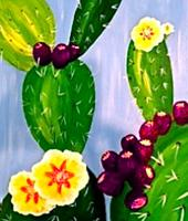 "Creole Canvas - ""Purple Prickly Pears"" (SOLD OUT)"