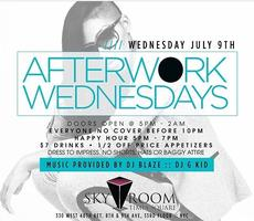 BIGGA presents Afterwork Wednesdays at Skyroom Rooftoop...