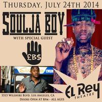 SOULJA BOY w/ LeeBoy on July 24 @ El Rey Theatre