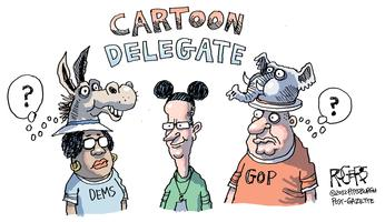 Rob Rogers Cartoon Delegate Video Sketchbook Premiere