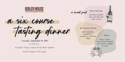 Boiler House Wine Tasting Dinner