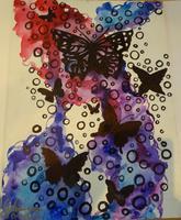 """JULY: Canvas Painting Class - """"Spirited Butterflies"""""""