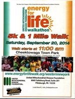 Energy for Life Walkathon 1k & 5k for Mitochondrial...