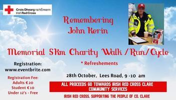 John Kerin Memorial Walk/Run Registration, Mon 28 Oct 2019