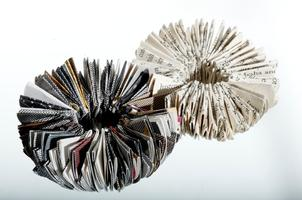 Folded paper objects with Paula do Prado