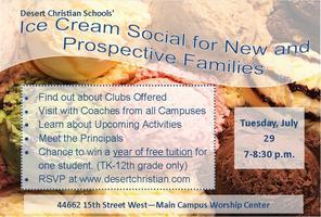 DCS Ice Cream Social July 29