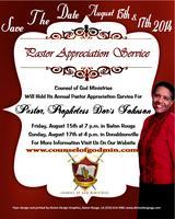 Pastor Appreciation Service