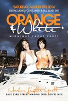 Orange & White Midnight Yacht Party