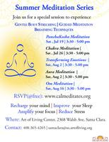 Summer Meditation Series