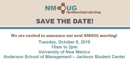 New Mexico Oracle Users Group (NMOUG)Meeting Tickets, Tue