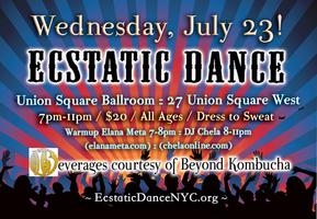 Ecstatic Dance July 23 at Union Square Ballroom!