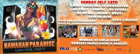 Hawaiian Paradise Feast & Pool party (SUNDAY)