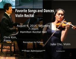 Favorite Songs and Dances - Violin Recital