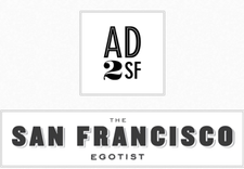 AD2SF + The SF Egotist logo