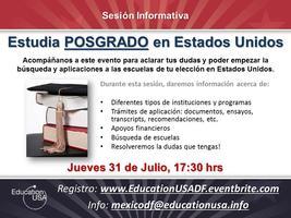 Sesión Informativa: Estudia POSGRADO en Estados Unidos
