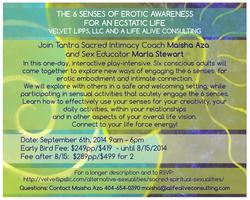 The 6 senses of Erotic Awareness for an Ecstatic Life