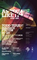AYLI 4 Year Anniversary w/Todd Terje LIVE, Maurice...