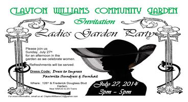 Ladies Garden Party - Hosted by Clayton Williams...