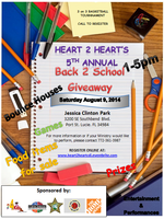 HEART 2 HEART'S 5TH ANNUAL BACK 2 SCHOOL GIVEAWAY