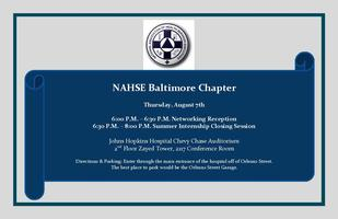NAHSE, Baltimore Chapter Summer Internship Closing...