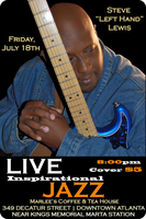 "Summer Jazz Series featuring Steve ""Lefthand"" Lewis"