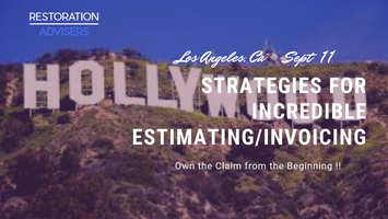 Restoration 2 0 Series: Customer Centric Estimating & Invoicing-Los Angeles