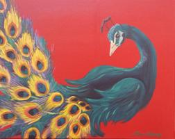 Paint the Stunning Peacock at the Hangar Tavern