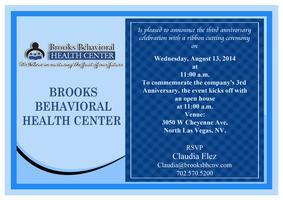 Brooks Behavioral Health Center 3 Year Anniversary...