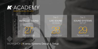 K-array Systems Design & Setup Registration, Wed, Nov 27