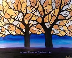 Metallic Trees Acrylic Painting Workshop