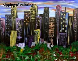 Sip n' Paint City Lights Sunday, September 7th, 5:00pm