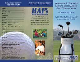 Kenneth R. Tolbert Annual Scholarship Golf Tournament...
