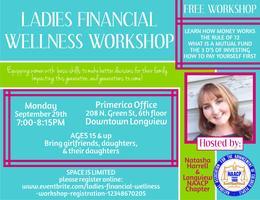 Ladies Financial Wellness Workshop