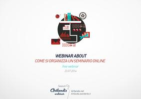 Webinar about: come si organizza un seminario online...