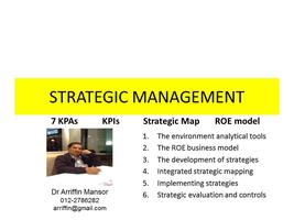 STRATEGIC MANAGEMENT : The proven best practices to achieve