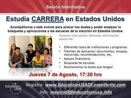 Sesión Informativa: Estudia CARRERA en Estados Unidos